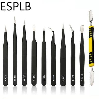 All PURpose Precision Tweezer Set Stainless Steel Anti Static Tool Kit Use C bz